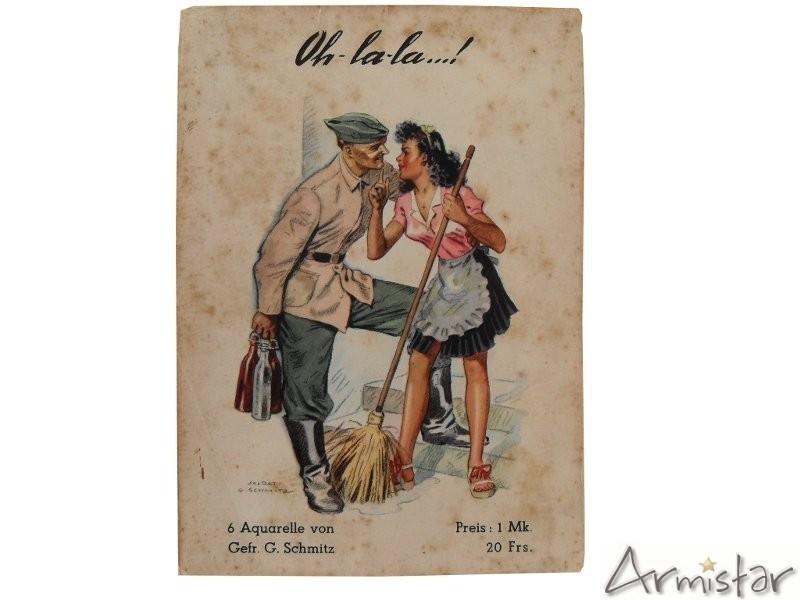 Oh la la 6 dessins pour soldat allemand occupation paris armistar militaria - Dessin de soldat ...