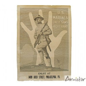 https://www.armistar.com/660-2461-thickbox/affiche-ww1-usmarines-uncle-sam-s-right-hand-.jpg