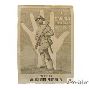 http://www.armistar.com/660-2461-thickbox/affiche-ww1-usmarines-uncle-sam-s-right-hand-.jpg