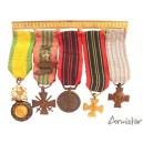 Barrette Médailles Miniatures F.F.I Resistant Libération WW2