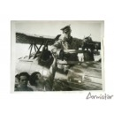 Photo Mitrailleur sur Avion Breguet 1934 Armée de l'Air