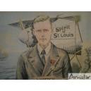 Tapisserie  Charles Lindbergh Traversée New-York à Paris 1927